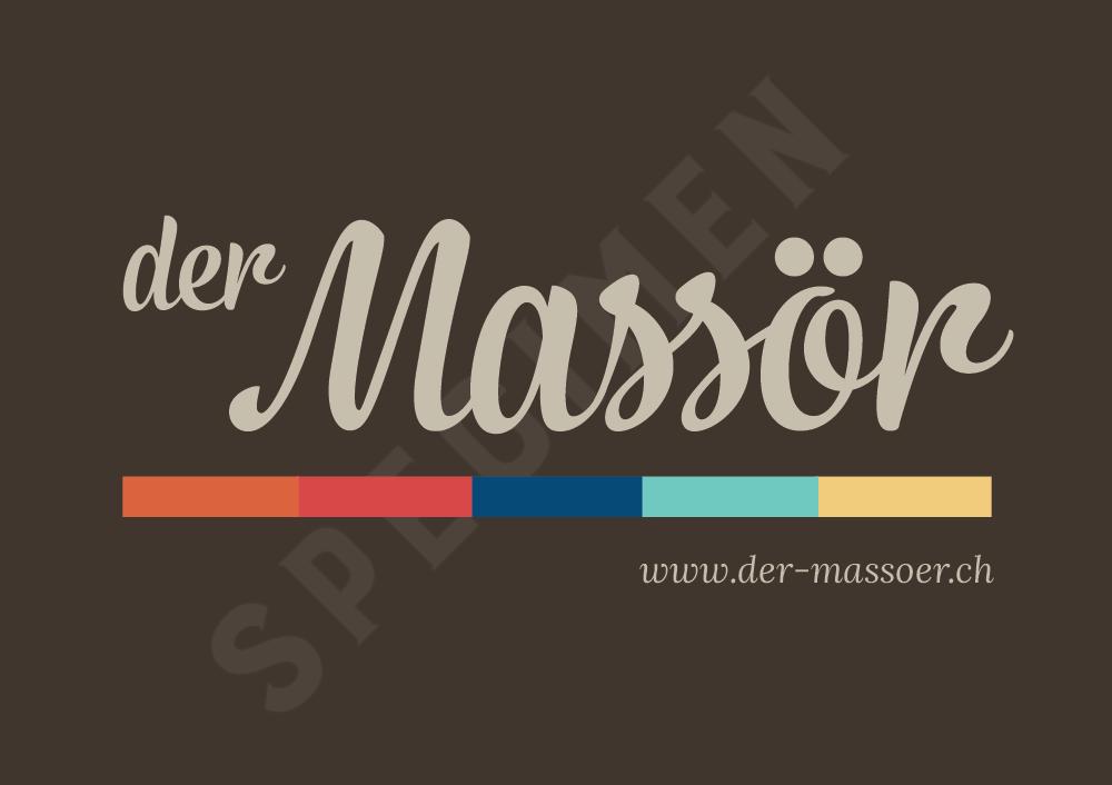 Massage Gutschein Specimen - der Massör